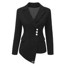 Fashion Three Button Irregular Women Blazer Suit